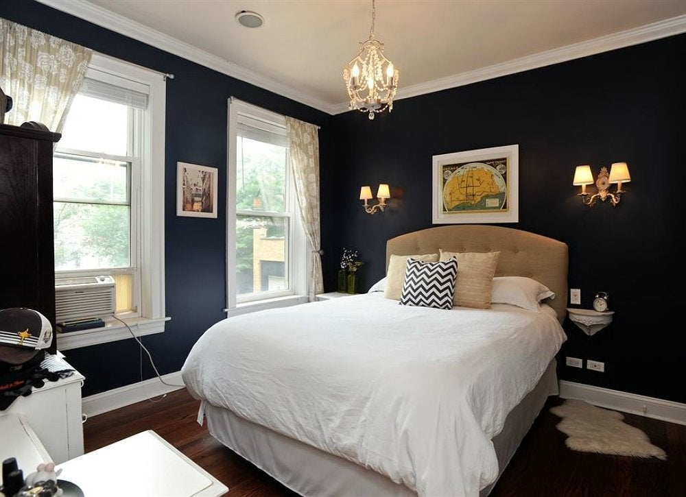 Black room room painting ideas 7 crazy colors to for Dark bedroom paint ideas