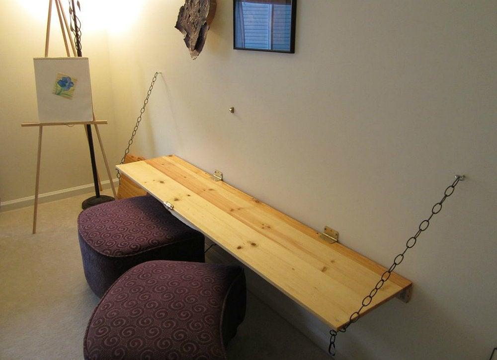 Diy floating desk diy desk 15 easy ways to make your for Build your own floating desk
