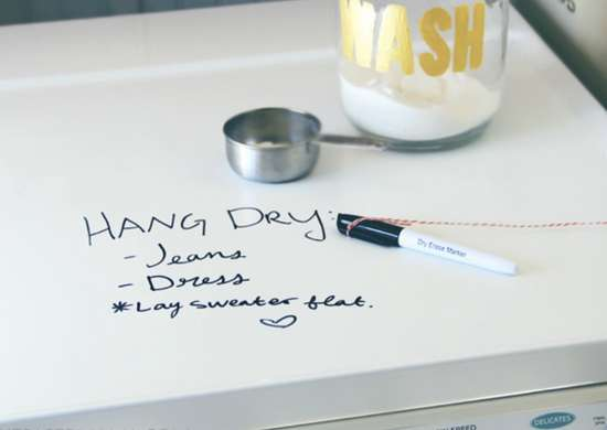Dry Erase Washing Machine