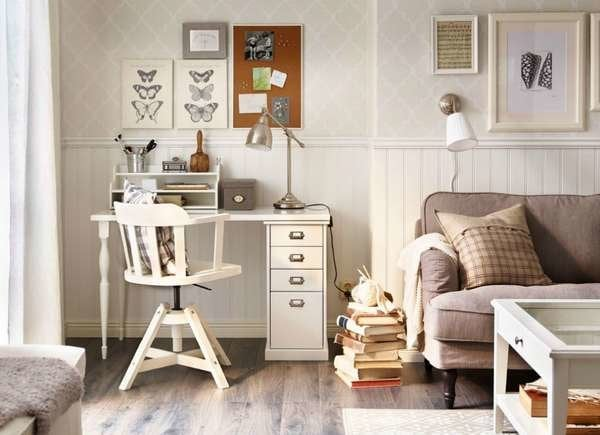 Small Home Office Ideas for Living Rooms