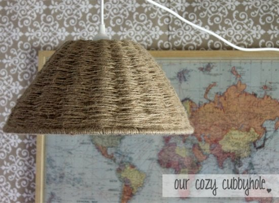 Diy pendant light twine and string diy projects 9 for Stuff to make with string