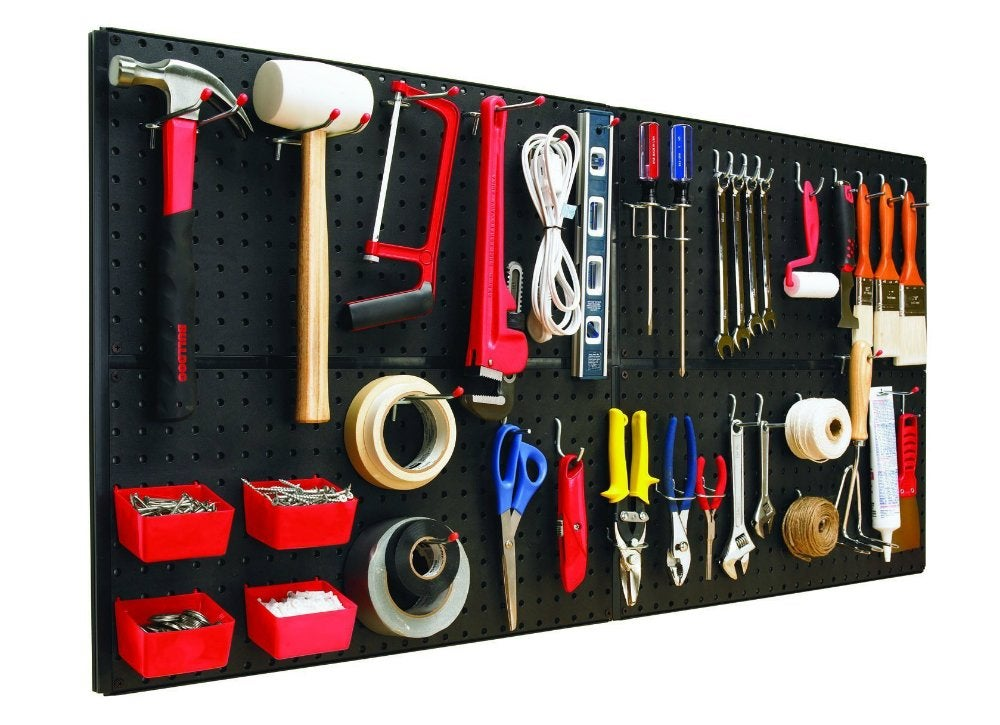With 8 Square Feet To Panel A Garage Wall And 43 Accessories For Hanging Corralling All That S Missing Are Your Tools