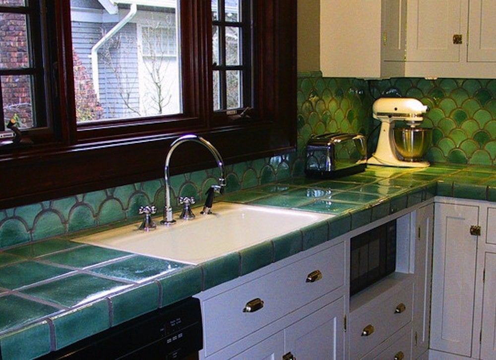 Affordable Countertop Materials : Tile Countertop - Cheap Countertop Materials - 7 Options - Bob Vila