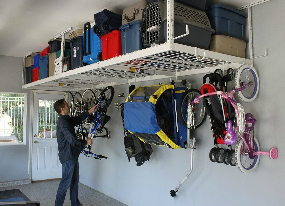 Garage overhead storage best cheap garage organizers for Garage discount brest