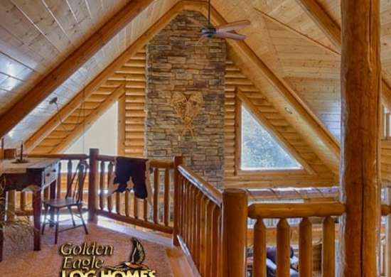 Cabin with loft log cabin kits 8 you can buy and build for Rustic home plans with cost to build