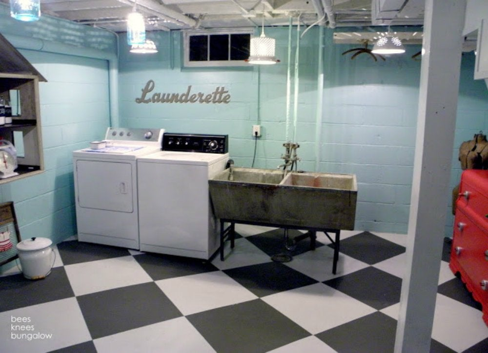 exceptional Unfinished Basement Bathroom Ideas Part - 14: Painting Basement Walls
