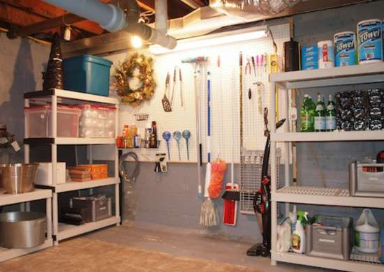 Extra Storage Space Unfinished Basement Ideas 9