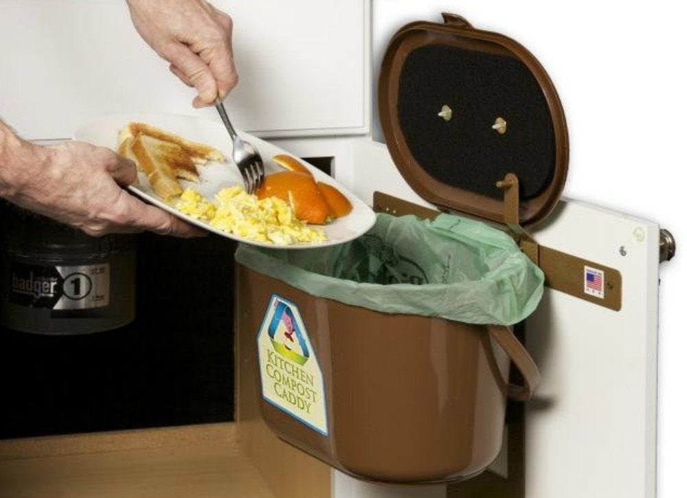kitchen compost bin under sink storage ideas to buy or diy bob vila. Black Bedroom Furniture Sets. Home Design Ideas