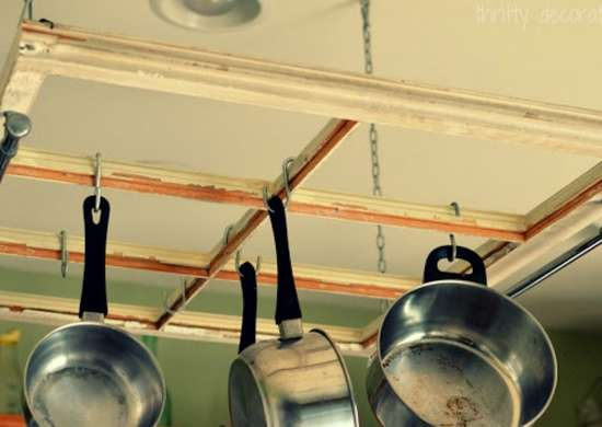 DIY Pot Rack