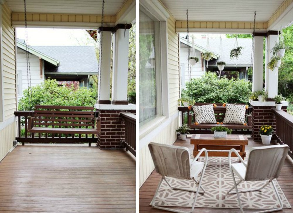 Front porch ideas curb appeal ideas 8 exterior for Exterior makeover ideas