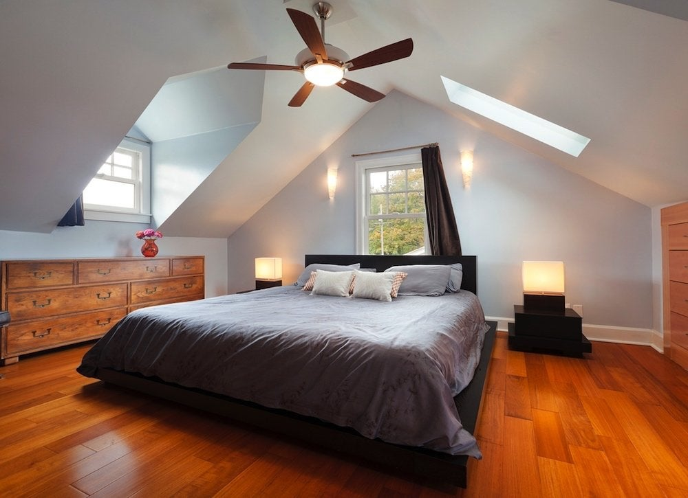 Attic bedroom addition