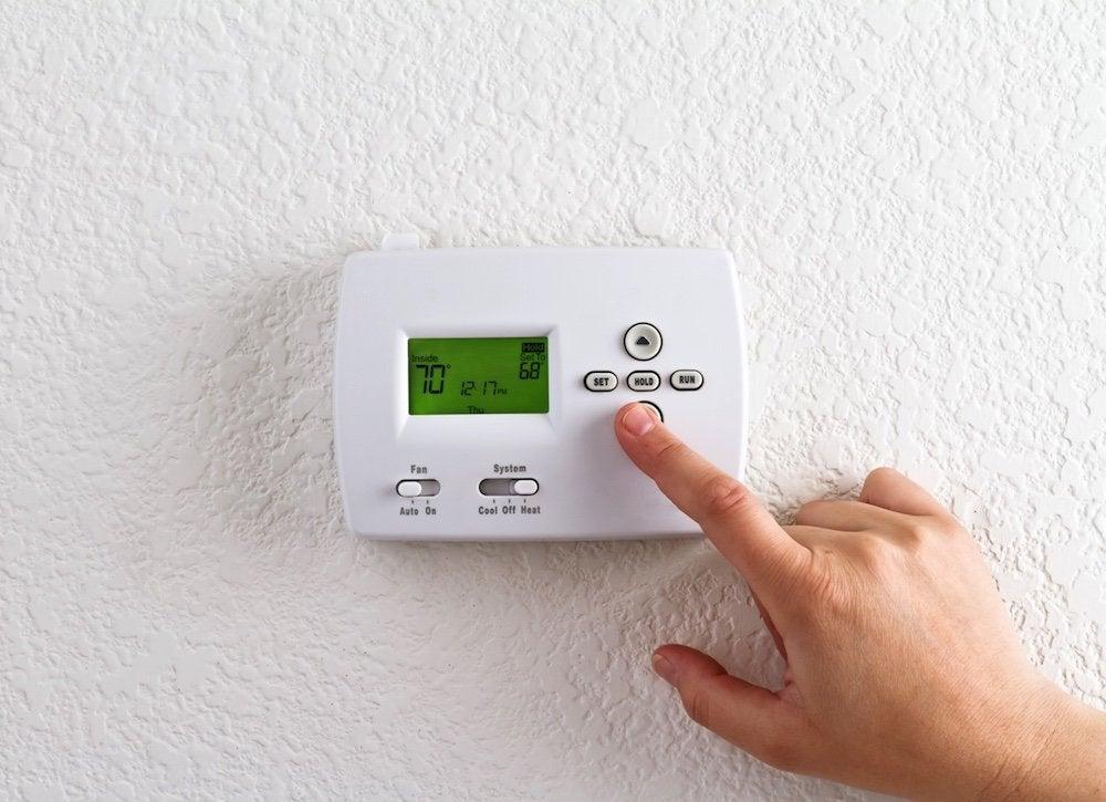 Radiant heat responsive