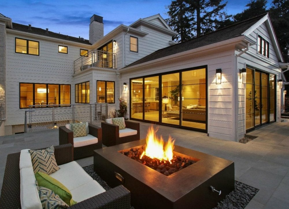 Backyard fire pit designs outdoor living spaces 7 for Outside living