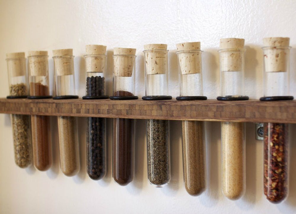 Test tube spice rack
