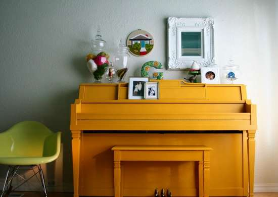 Paintedfurniture piano