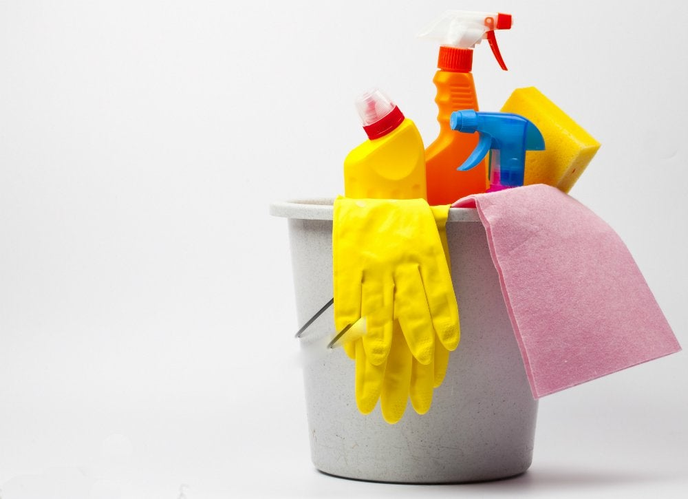 Organize cleaning supplies