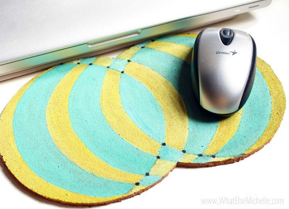 Cork projects   mousepad