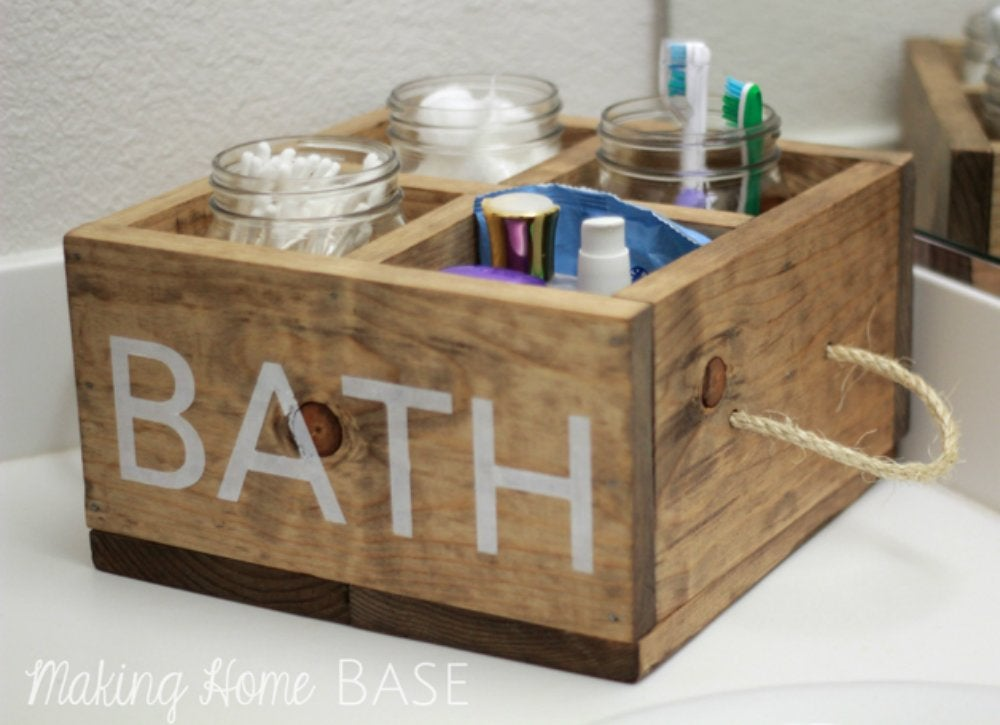 Declutter diy   bath caddy