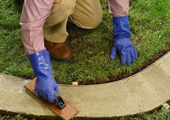Diy concrete garden border