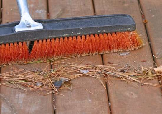 Sweeping the deck