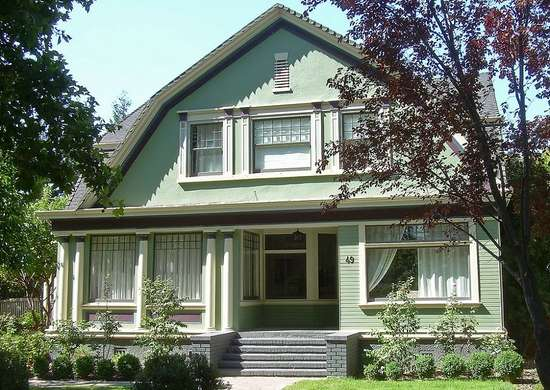 Painted house trim