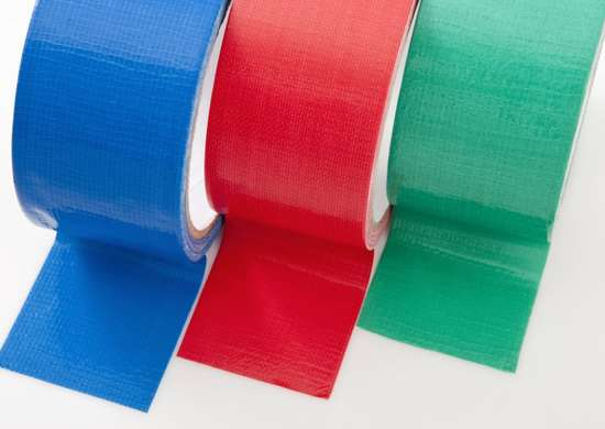Colored tape for coding boxes