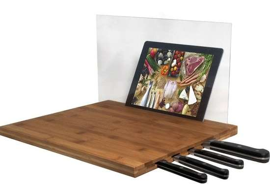 Tablet Holder Knife Block