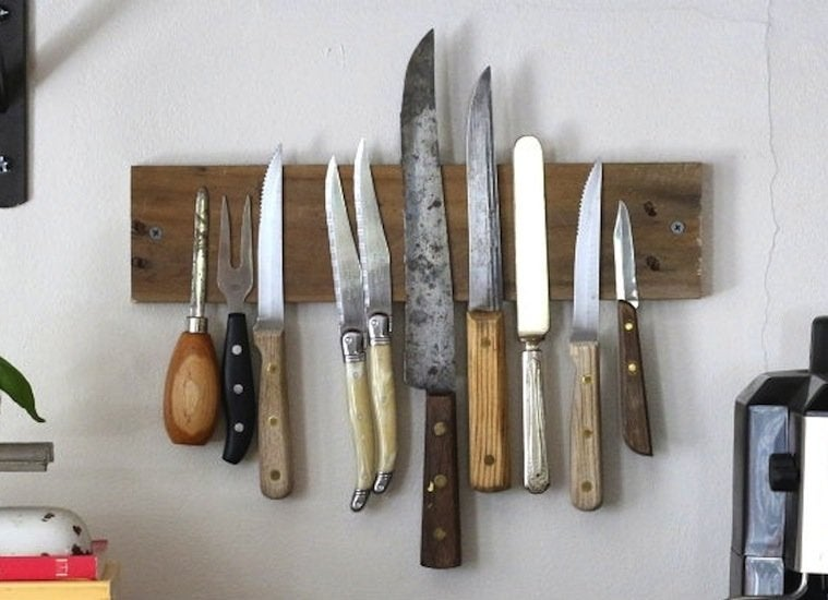 Rustic knife rack