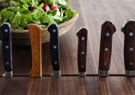 Knife block table