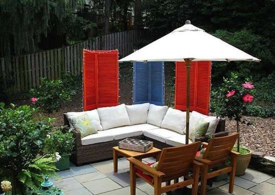 Cheap Patio Ideas - 8 DIY Pick-Me-Ups - Bob Vila on backyard gazebo ideas, backyard pool ideas, backyard construction ideas, backyard fence ideas, backyard furniture ideas, backyard seating ideas, retaining wall ideas, small backyard ideas, garage ideas, driveway ideas, backyard sunroom ideas, backyard hot tub ideas, backyard landscape ideas, fireplace ideas, backyard pergola ideas, inexpensive backyard ideas, backyard courtyard ideas, backyard shed ideas, backyard concrete ideas, deck ideas,