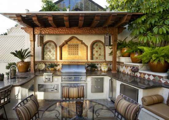 Old world outdoor kitchen