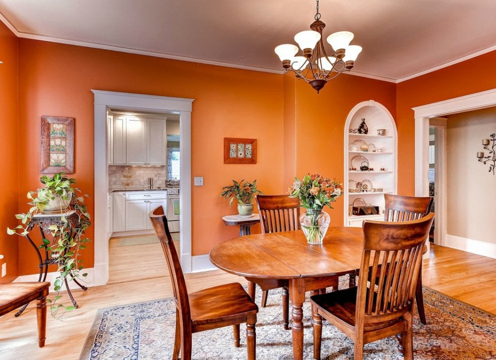 Orange dining room room color ideas 10 mistakes to for Dining room colors