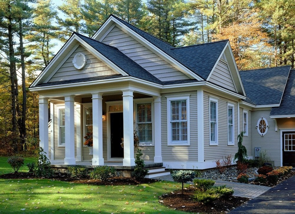 Exterior House Paint Colors - 7 No-Fail Ideas - Bob Vila on motor homes painted green, mobile homes painted blue, mobile homes painted black, mobile homes white, mobile homes painted red,