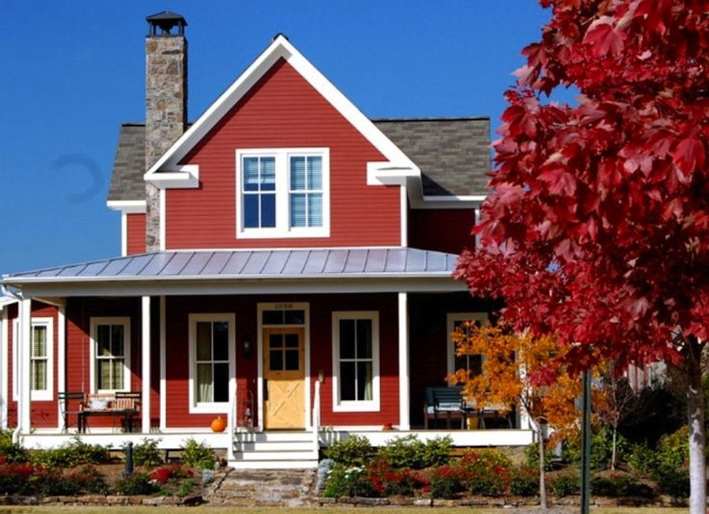 Red house exterior house paint colors 7 no fail ideas bob vila - Red exterior paint colors design ...