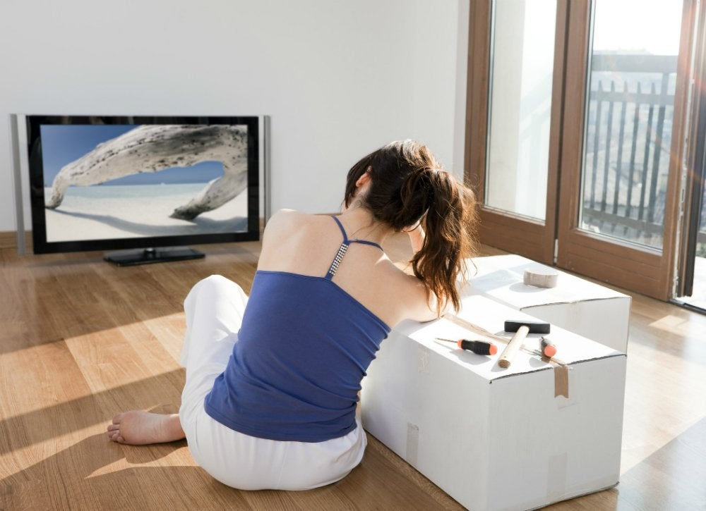 Moving and setting up a tv