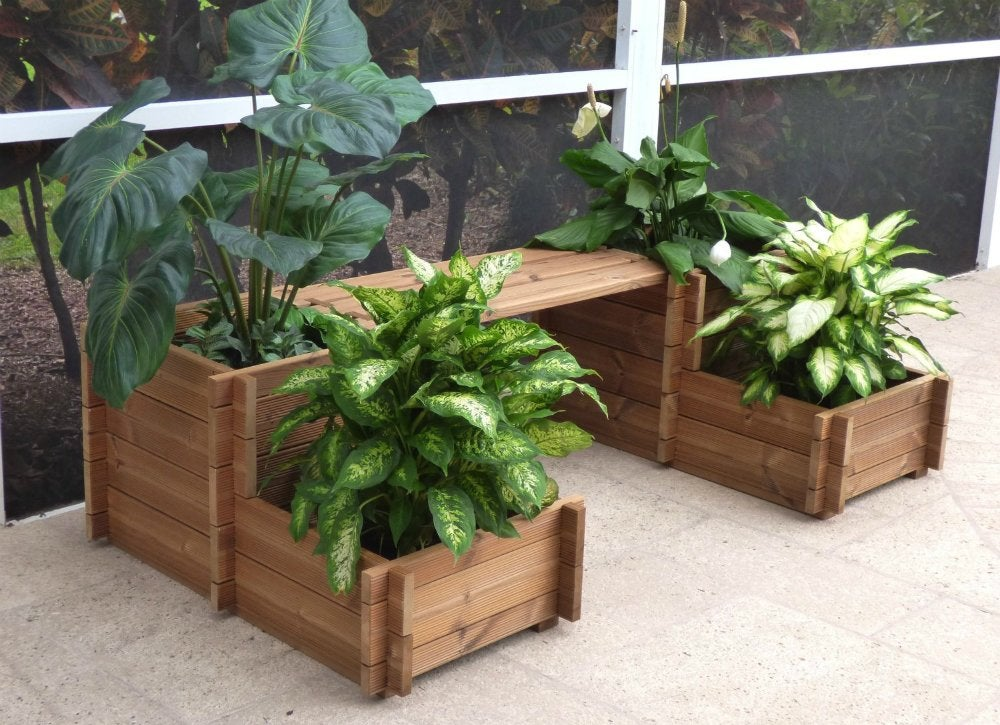 Bench Planter Small Patio Furniture 9 Double Duty