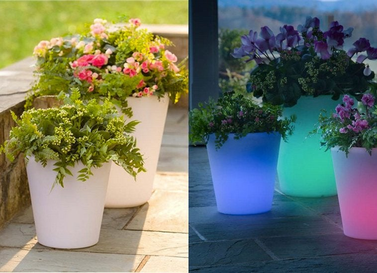 glow in the dark flower pots small patio furniture 9