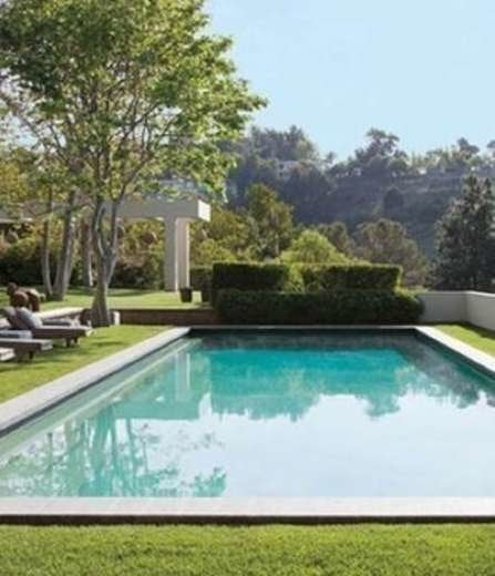 Architecturaldigest ellen degeneres beverly hills celebrity swimming pool