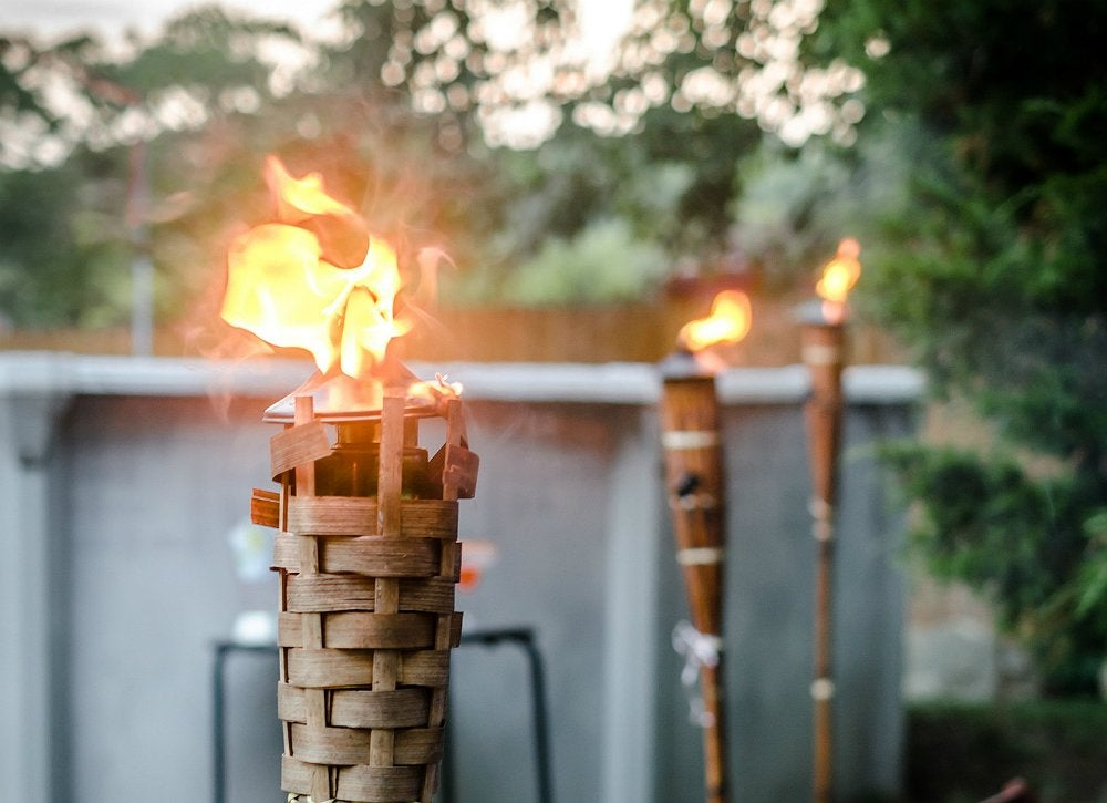 Diy outdoor lighting tiki lights