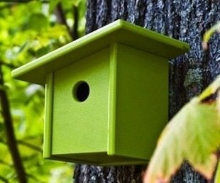 Materialicious pitch birdhouse by loll m