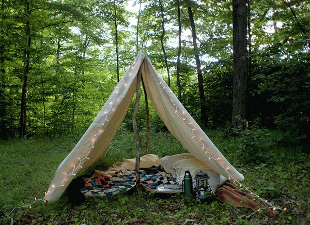 Diy backyard tent