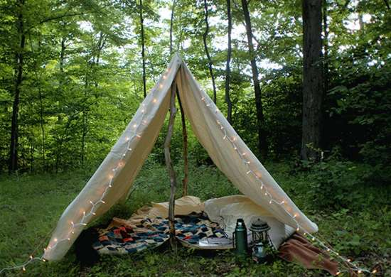 Diy backyard tent