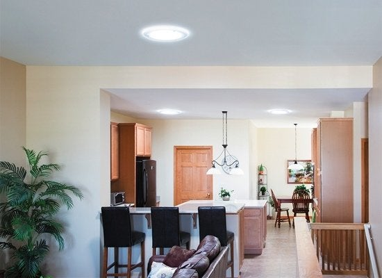 Tubular skylights living area