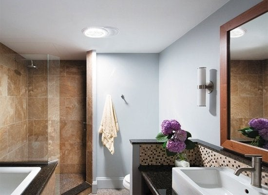 Tubular skylight bathroom