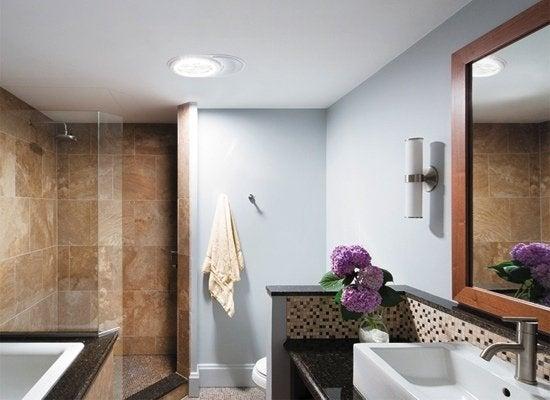 Tubular skylight bathroom