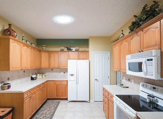Tubular skylight kitchen