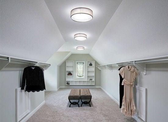Tubular skylight closet