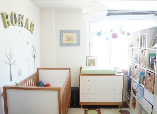 Dining room turned nursery