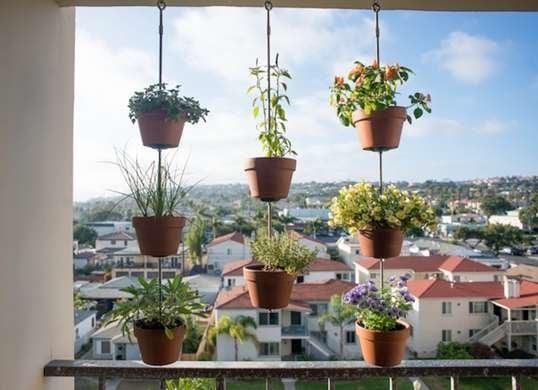 Vertical clay pot garden