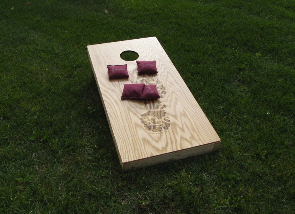 Backyard cornhole game